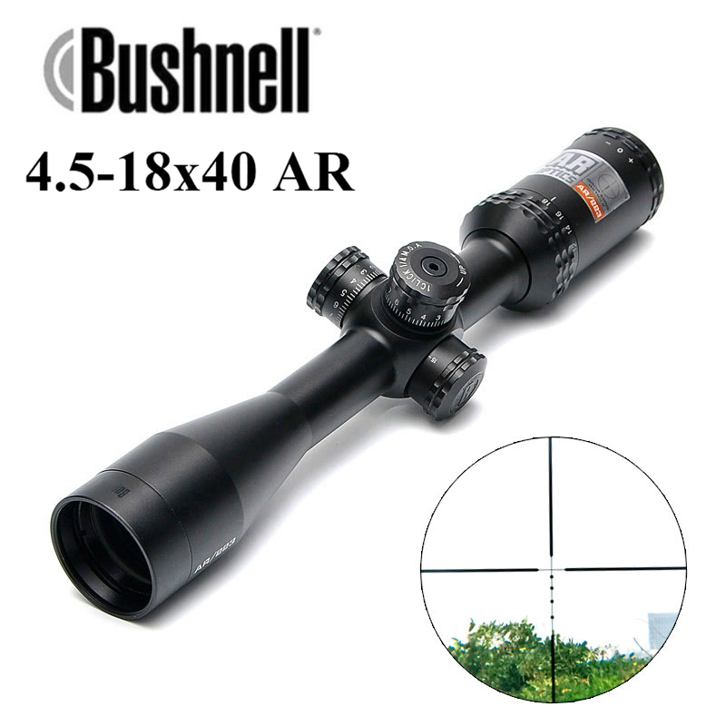 Bushnell 4.5-18x40 AR/223 BDC  Tactical Rifle Scope Outdoor Reticle Optic Sight Cross Riflescope Long Distance Hunting ScopesBushnell 4.5-18x40 AR/223 BDC  Tactical Rifle Scope Outdoor Reticle Optic Sight Cross Riflescope Long Distance Hunting Scopes
