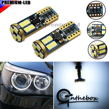 2pcs 6000K Xenon White LED Angel Eyes Ring Marker Bulbs for BMW E60 525i 530i 545i 5 Series Pre-LCI Halogen Headlight Version image
