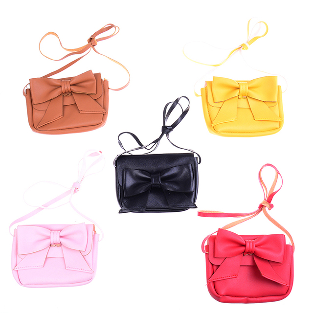 1pc Mini Bowknot Shoulder Bag Key Coin Purse Lovely Bag Little Girl's Present
