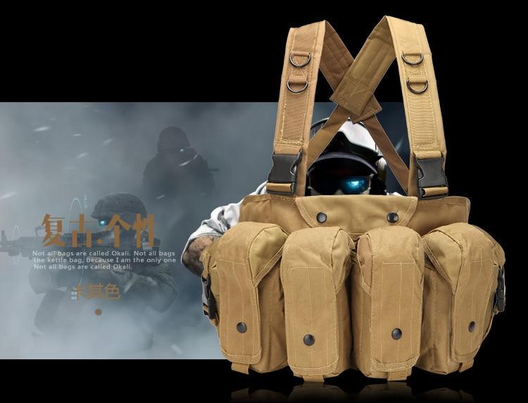 2018 New 6 pocket Tactical vest MOLLE system combat outdoor vest CS field equipment camouflage fast demolition belly pocket vest