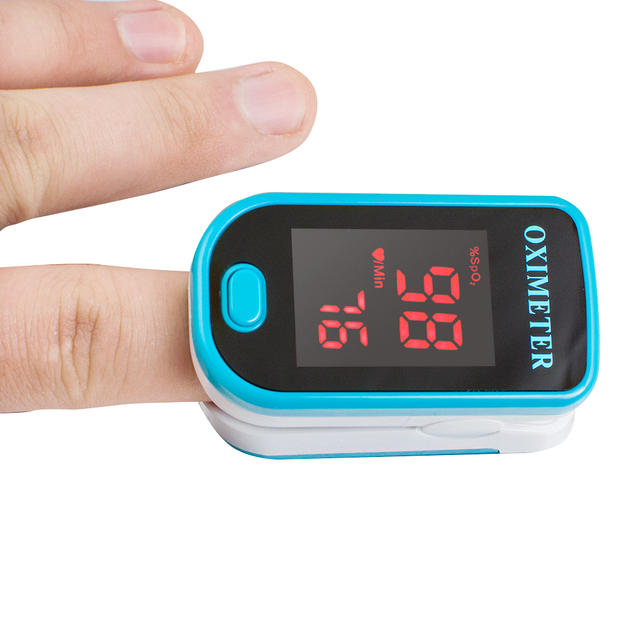 Measuring Instruments Quality Guaranteed Portable LED Finger Pulse Oximeter Blood Oxygen Monitor SpO2 PR Monitor Blue Color