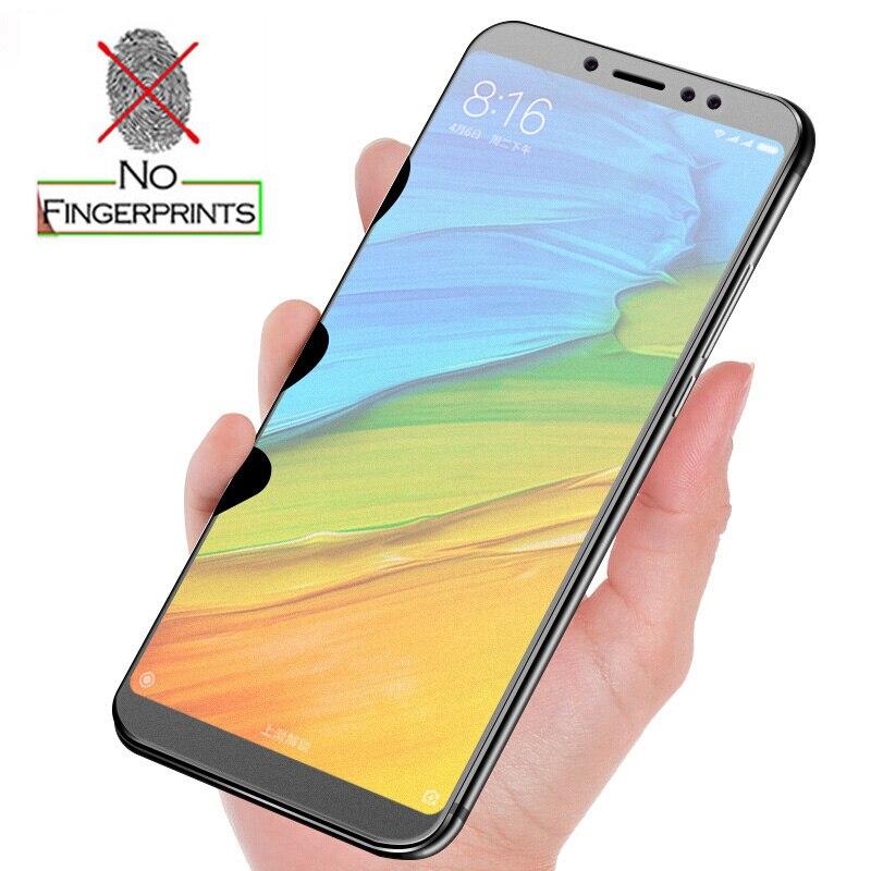 Нет отпечатков пальцев матовая закаленное Стекло протектор для Xiaomi Redmi Note 5 Pro с антибликовым покрытием матовый Экран пленка для Redmi 5 Плюс 5A