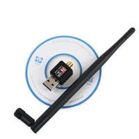 Adaptador WiFi USB 150Mbps 5dBi PC WiFi Dongle USB Wi-Fi antena WiFi receptor Mini Ethernet tarjeta de red inalámbrica Wi-Fi adaptador