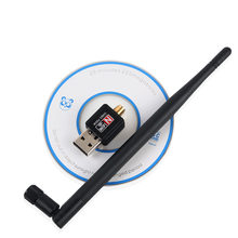 Usb Wifi Adapter 150Mbps 5dBi Pc Wifi Dongle Usb Wifi Antenne Wifi Ontvanger Mini Ethernet Draadloze Netwerkkaart Wi fi Adapter