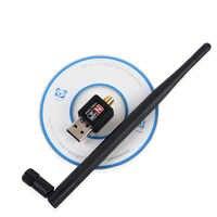 Adaptador USB WiFi 150 Mbps 5dBi PC WiFi Dongle USB Wi-Fi Antena do Receptor Wi-fi Ethernet Mini Cartão de Rede Sem Fio Wi adaptador Fi