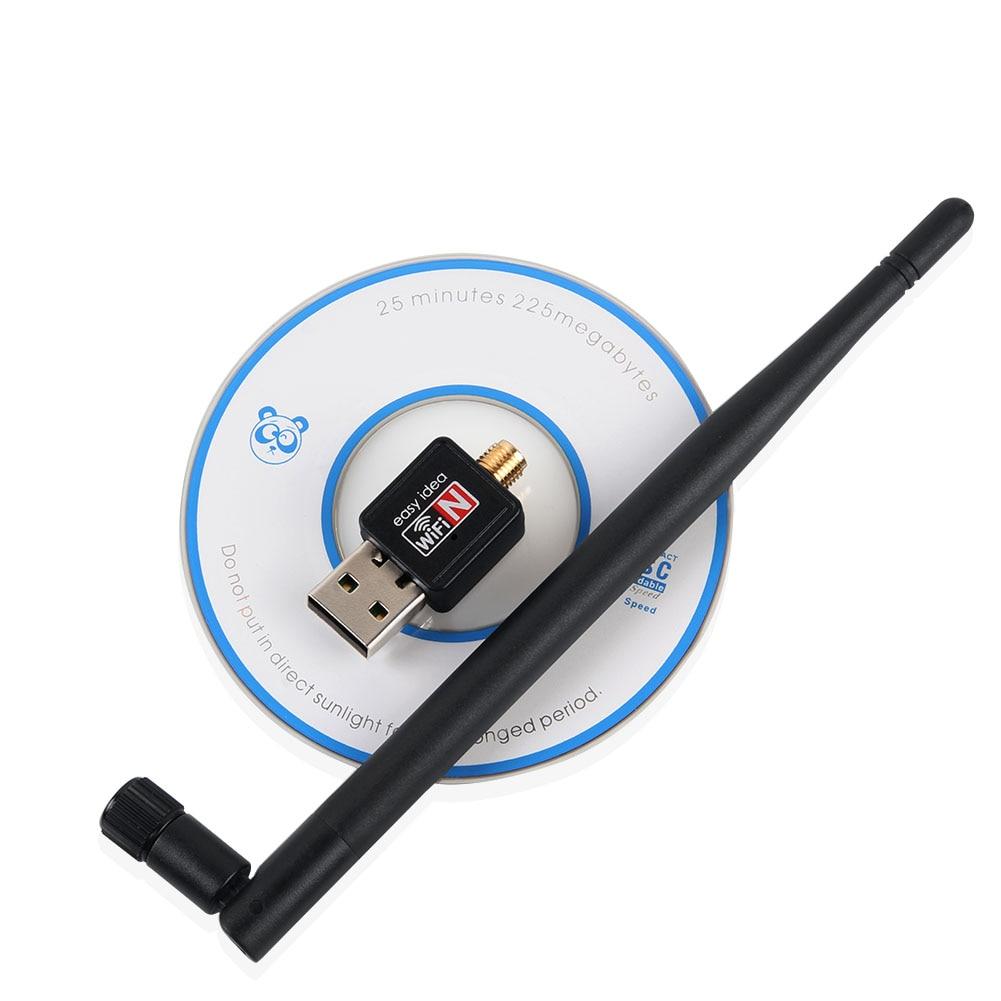 USB WiFi Adapter 150Mbps 5dBi PC WiFi Dongle USB Wi-Fi Antenna WiFi Receiver Mini Ethernet Wireless Network Card Wi  Fi Adapter