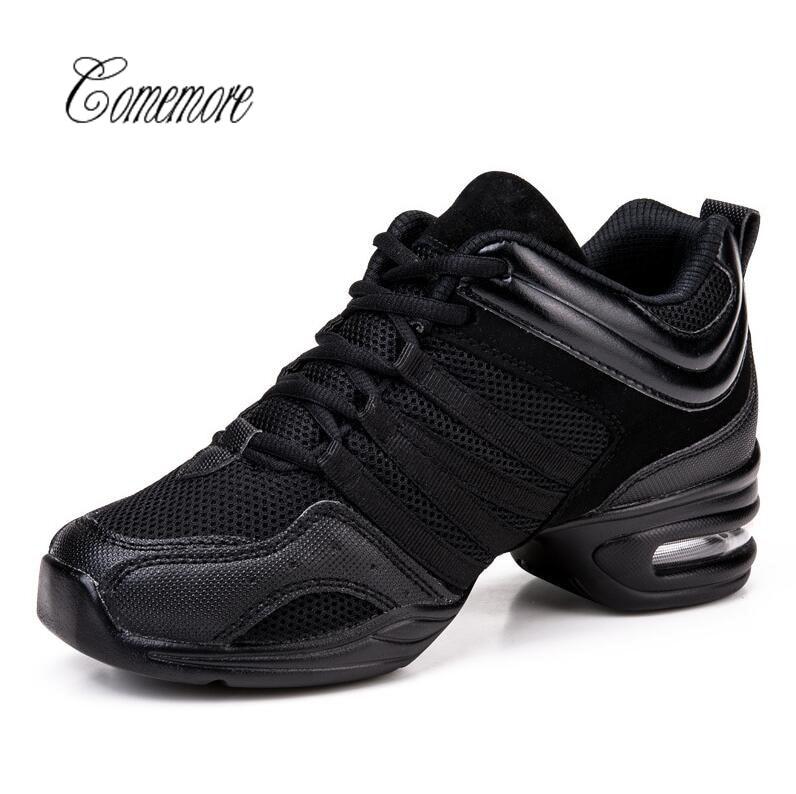 Comemore2019 Black Sneakers Women Breath Dance Shoes Woman Sports Feature Dance Sneaker Ladies Jazz Hip Hop Dancing Shoe Zapatos