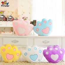 LED light-up toys Luminous Bear's Paw Glow light Pillow Plush Stuffed Doll Party Birthday Baby Kids Gift Home Living Decoration