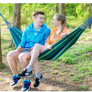 Image 2 - High Quality Strong Canvas Camping and camping supplies Single canvas hammock 200*80cm free shipping