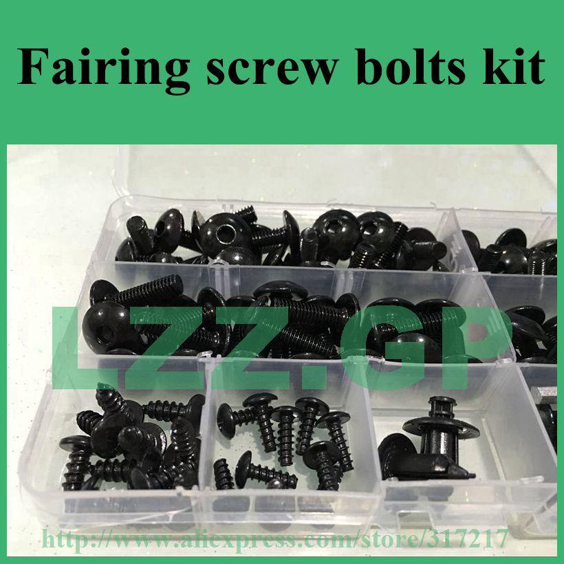 Fasteners Black Standard Motorcycle Fairing Bolt Kit For Kawasaki Ninja ZX-6R 2009-2012 Body Screws and Hardware