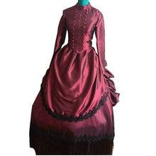 Распродажа, D-115 бальное платье в викторианском стиле, готика/Гражданская война, Южная красавица, театральные эдвардианские платья для Хэллоуина, Sz US 6-26 XS-6XL