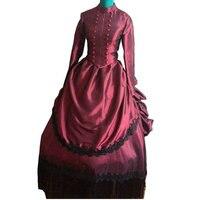 על מכירה D-115 ויקטוריאני גותי/מלחמת אזרחים בדרום Belle כדור שמלת שמלות שמלות ליל כל הקדושים תיאטרון אדוארד סז ארה