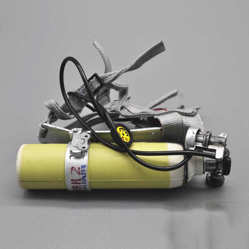 1/6 زجاجة أكسجين إطفائي غواص ل 12''Action أرقام الهيئات DIY اكسسوارات معدات