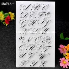 Art English Alphabet Scrapbook DIY photo cards account rubber stamp clear stamp transparent stamp 10x19cm 7063064