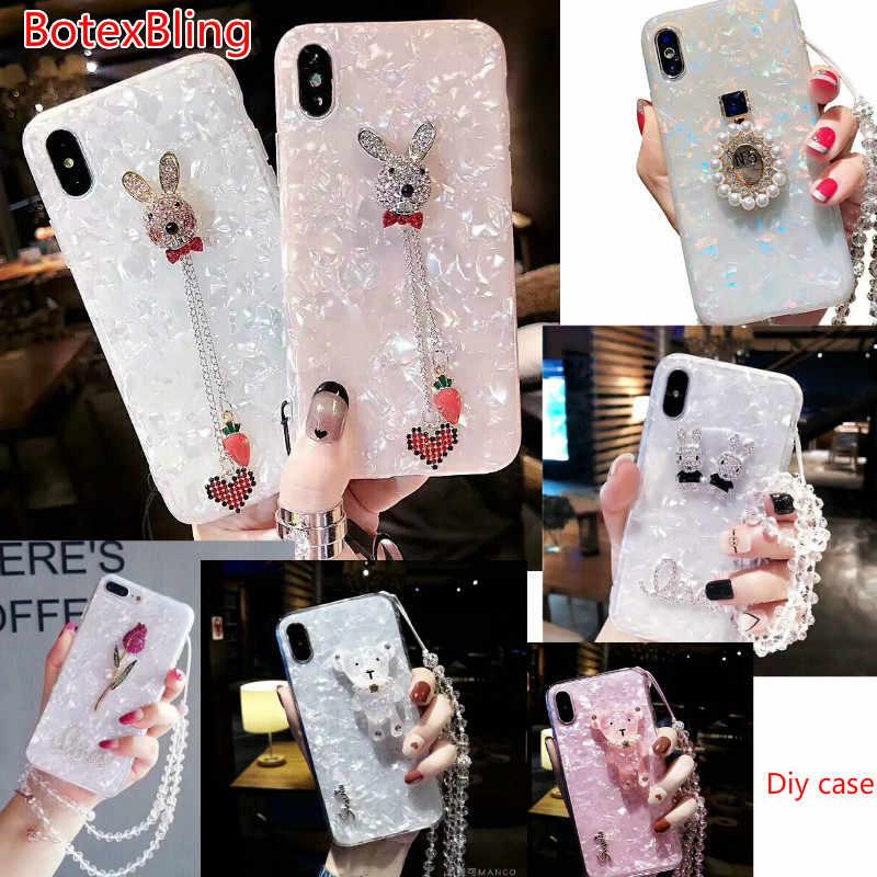 BotexBling Luxury 3D diy cute rabbit rose perfume bottle case for iphone XS  max XR X d65de5c45f50