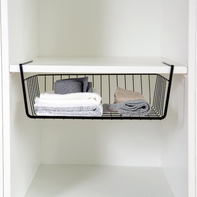 Creative Simple bathroom storage finishing rack Black / White ...