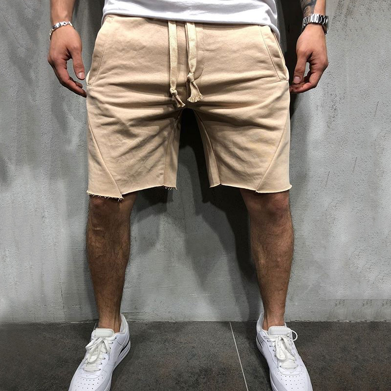 2019 Hot Fashion Men   Short   Pants Summer Linen Man   Shorts   Casual Slim Solid Beach Loose   Shorts   white black gray green