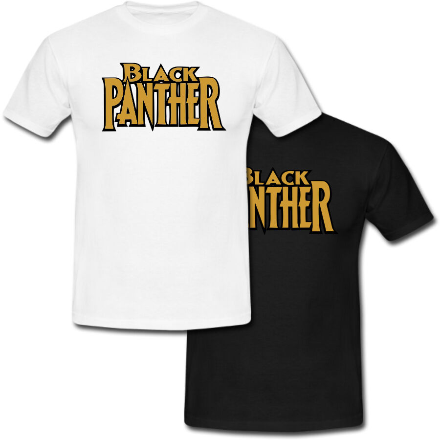 New Black Panther Logo 2016 Superhero Movie T-shirt USA Size image