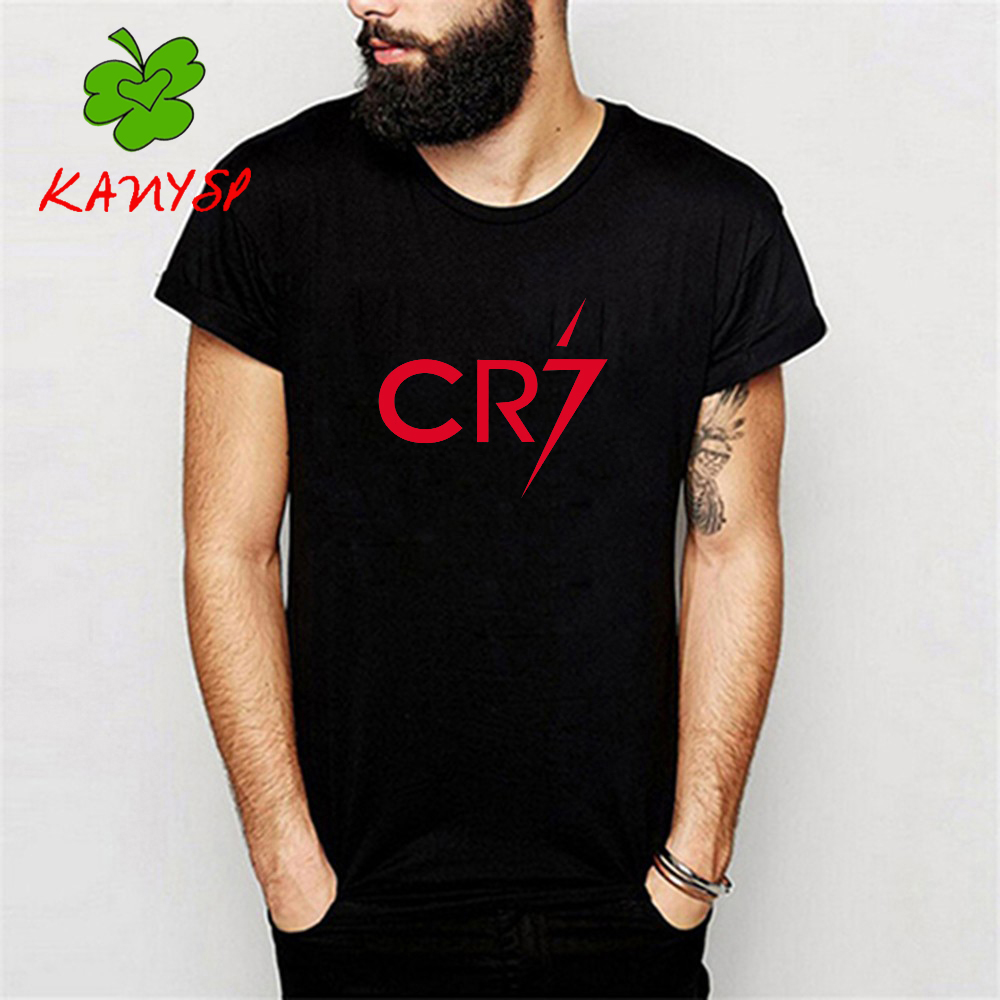 men 39 s t shirts ronaldo t shirt cr7 christiano tee cotton. Black Bedroom Furniture Sets. Home Design Ideas