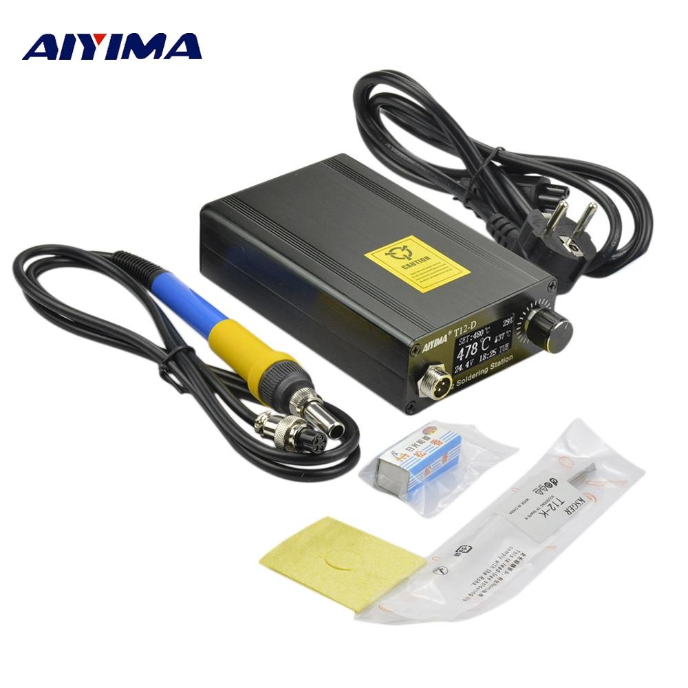OLED 110V 220V T12 Digital Soldering Stations estacion de soldadura quick tools solder station electronica soldering iron stand