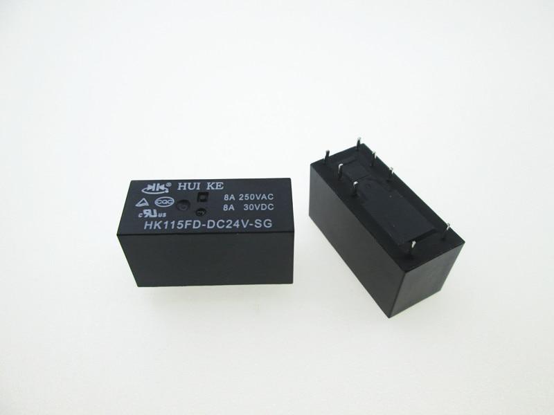 HOT NEW 24V relay HK115FD DC24V SG HK115FD 24VDC SG HK115FDDC24VSG DC24V 24VDC 24V 8A 250VAC