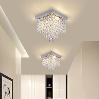 Fashion square crystal led Chandeliers LED lamps Chandeliers restaurant hallway High power LED chandelier led light chandelier