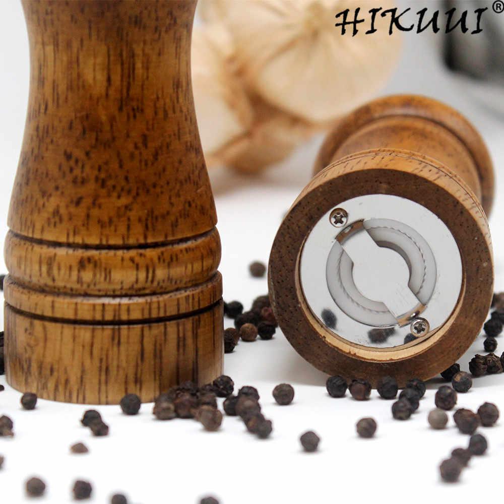 """5 """"8"""" 10 """"мельница для соли и перца из цельного дерева мельница для специй с Регулируемый Керамический шлифовальный сердечник кухонные инструменты от HIKUUI"""
