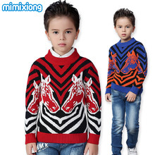 Autumn Kids Boys Sweaters Black White Zebra Children's Pullovers Fashion Stripe Kids Knitwear Winter Casual Toddler Tops Cotton