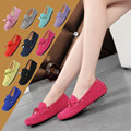 2016 Hot sale Classic 100% Genuine Leather Women Flat Shoes  Casual Loafers Woman Shoes Moccasins Lady Driving Shoes