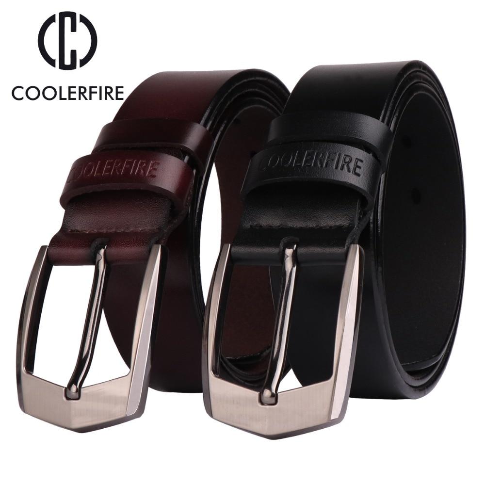 Coolerfire men high quality genuine leather belt luxury designer belts men cowskin fashion Strap male Jeans for man cowboy HQ043 in Men 39 s Belts from Apparel Accessories