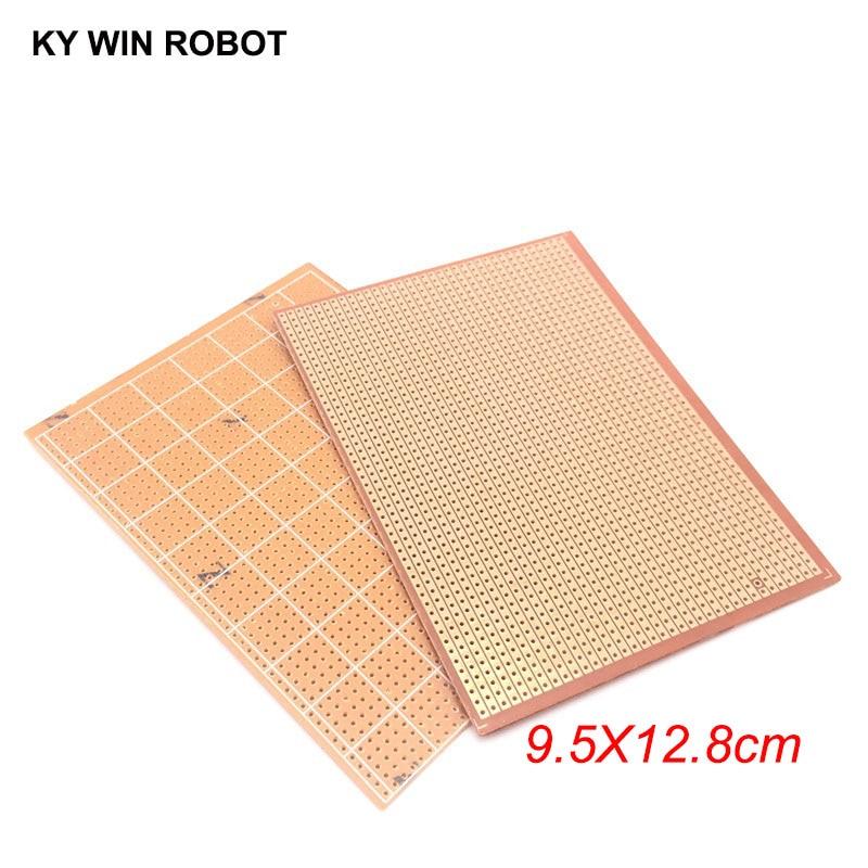 1 шт. DIY макетная бумага 9,5x12,8 9,5*12,8 см, печатная плата для универсального эксперимента, матрица, однорядное непрерывное отверстие 95x128mm