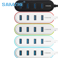 Samzhe super speed usb 3.0 4-port hub usb hub usb divisor de 5 cores para escolher moda para pc computador macbook