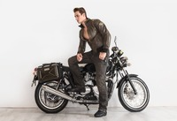 SPRS Motorcycle Leather Jackets Men Autumn Spring Leather Clothing Male Casual Coats Brand Clothing
