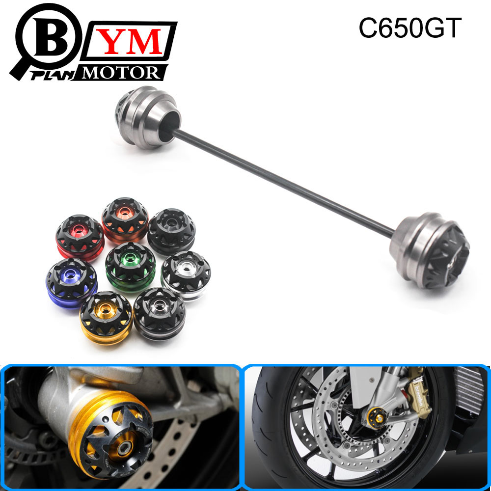 Free shipping for BMW C650GT 2012-2015 CNC Modified Motorcycle Front wheel drop ball / shock absorber shock absorber ad2580 absorber buffer bumper free shipping