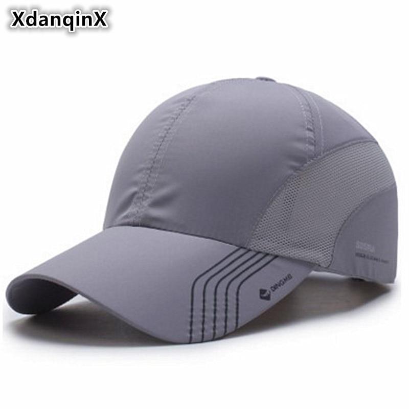 XdanqinX Unisex Summer Thin Mesh Breathable Baseball Caps For Men Women Snapback Male Bone Adjust Size Fashion Couple Brand Hat