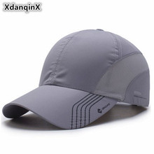 XdanqinX Unisex Summer Thin Mesh Breathable Baseball Caps For Men Women Snapback Male Bone Adjust Size Fashion Couple Brand Hat