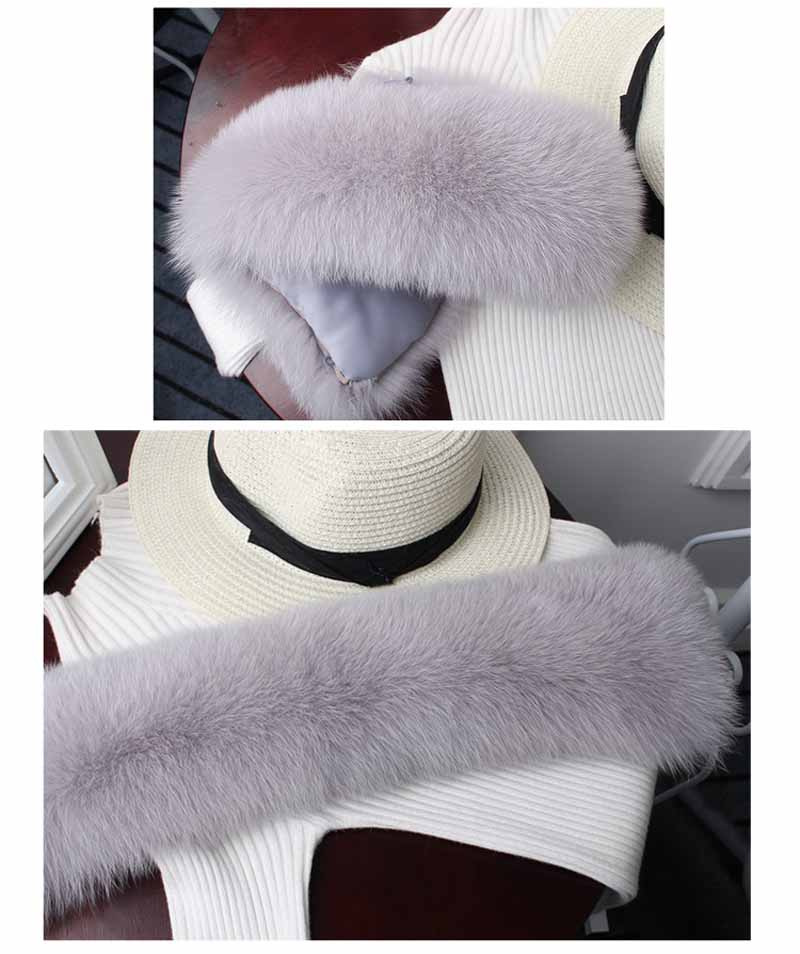 Cheap real fox fur collar