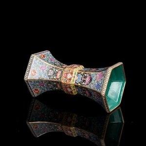 Image 4 - Эмалированная Золотая Шестигранная ваза династии цианлонг, антикварная фарфоровая коллекция античного фарфора