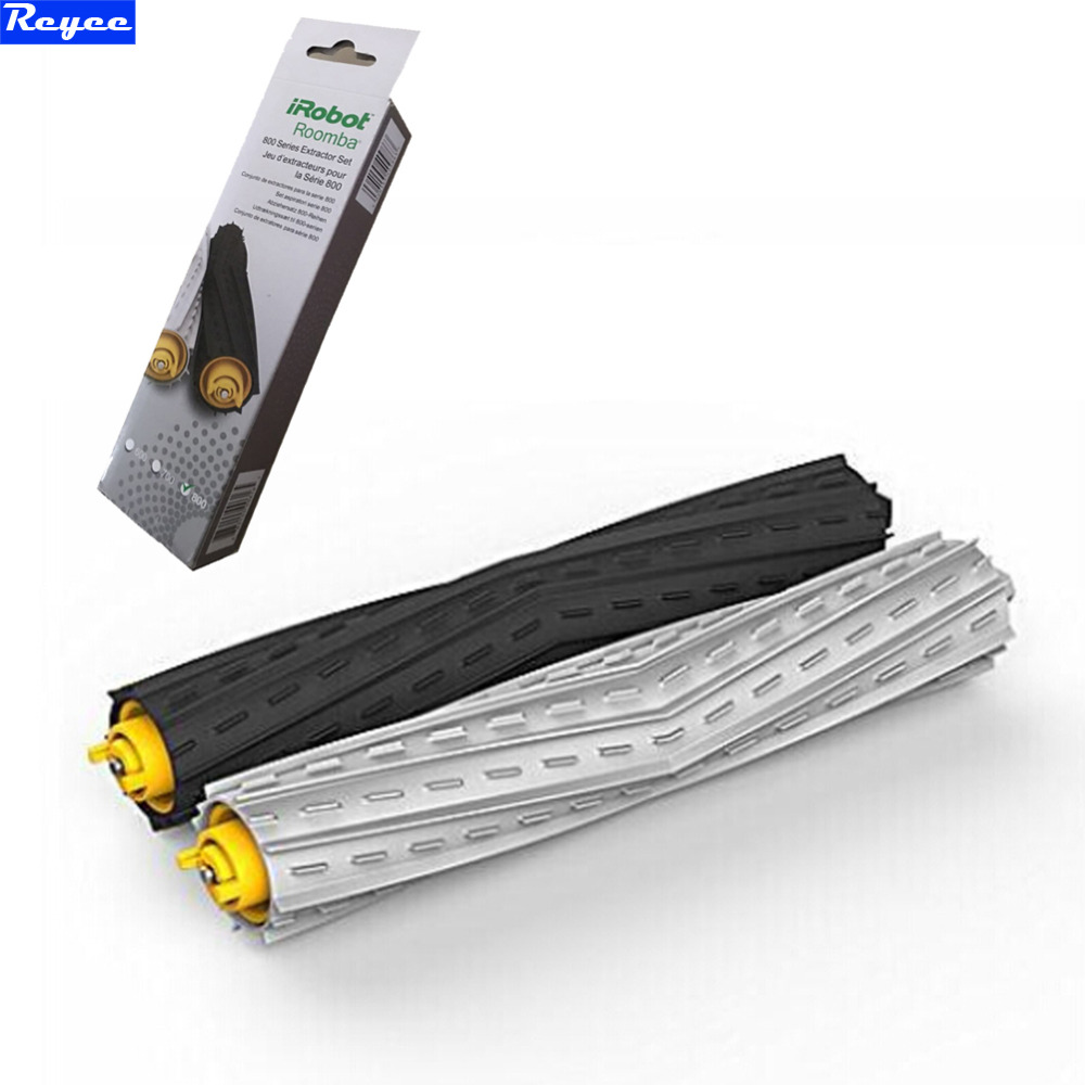 Free shipping 1 Pair Tangle-Free Debris Extractor Brush for iRobot Roomba 800 Series 870 880 Vacuum Cleaner replacement diy assembly puzzle metal intelligent control robot children educational toys