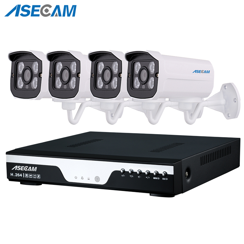 Hot 4 Channel 1920p CCTV Camera Video Recorder DVR AHD 3MP Home Outdoor Security Camera System