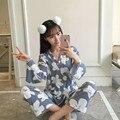2017 Хлопок Энтеро Пижамы Для Женщин Пижамы Pijama Роковой Пижамы женские Пижамы Свободные Пижамные Pijama Feminino Женщин Pigiami