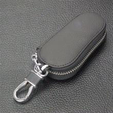 Skórzany portfel na klucze samochodowe mężczyźni brelok organizer do kluczy dla gospodarza damskie etui na breloki Zipper etui na klucze etui na torebkę tanie tanio Bilchave Górna Warstwa Skóry