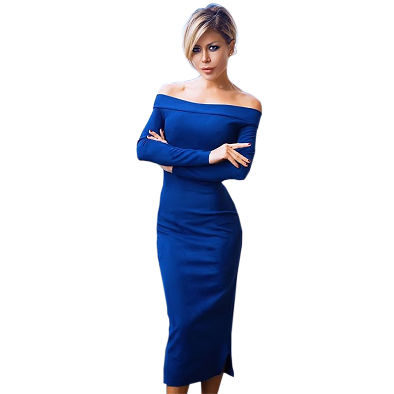 Sleeve Bell Off Bodycon Long Shoulder Sleeve Dresses Zipper for tall