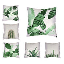 Kundenspezifische Kissenbezug Tropical Cactus Sommer Almofada Ananas Nette Büro 45 * 45 cm Haushaltsgeschirr Sofa Dekorieren Dekokissen Fall