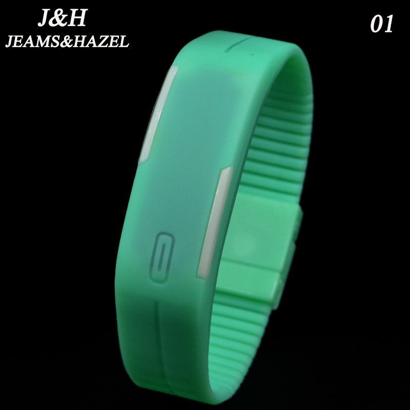 LED Bracelet Watches Women Fashion Sport Silicone Wristwatch Digital Watch Men Personality Casual Relogio W1002