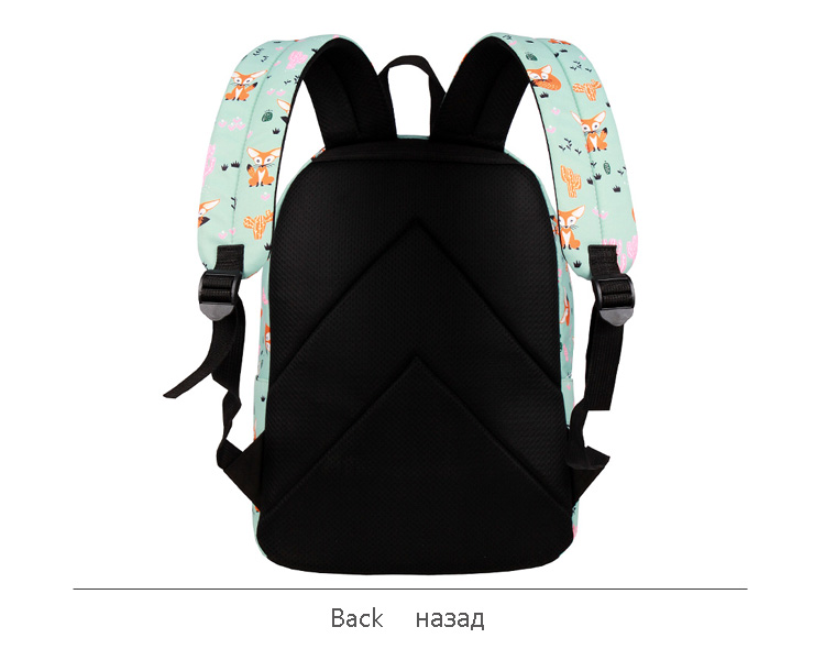 WINNER Fox Pattern Printing Backpack Female Travel Daily Laptop Student School Backpack Water  Repellent For Teenagers Mochila 2018 (7)