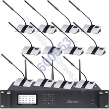 MICWL Top  Digital Wireless Conference System for Large Meeting Room Speak talking Chairman + Delegate Desktop max. 255 unit high end uhf 8x50 channel goose neck desk wireless conference microphones system for meeting room