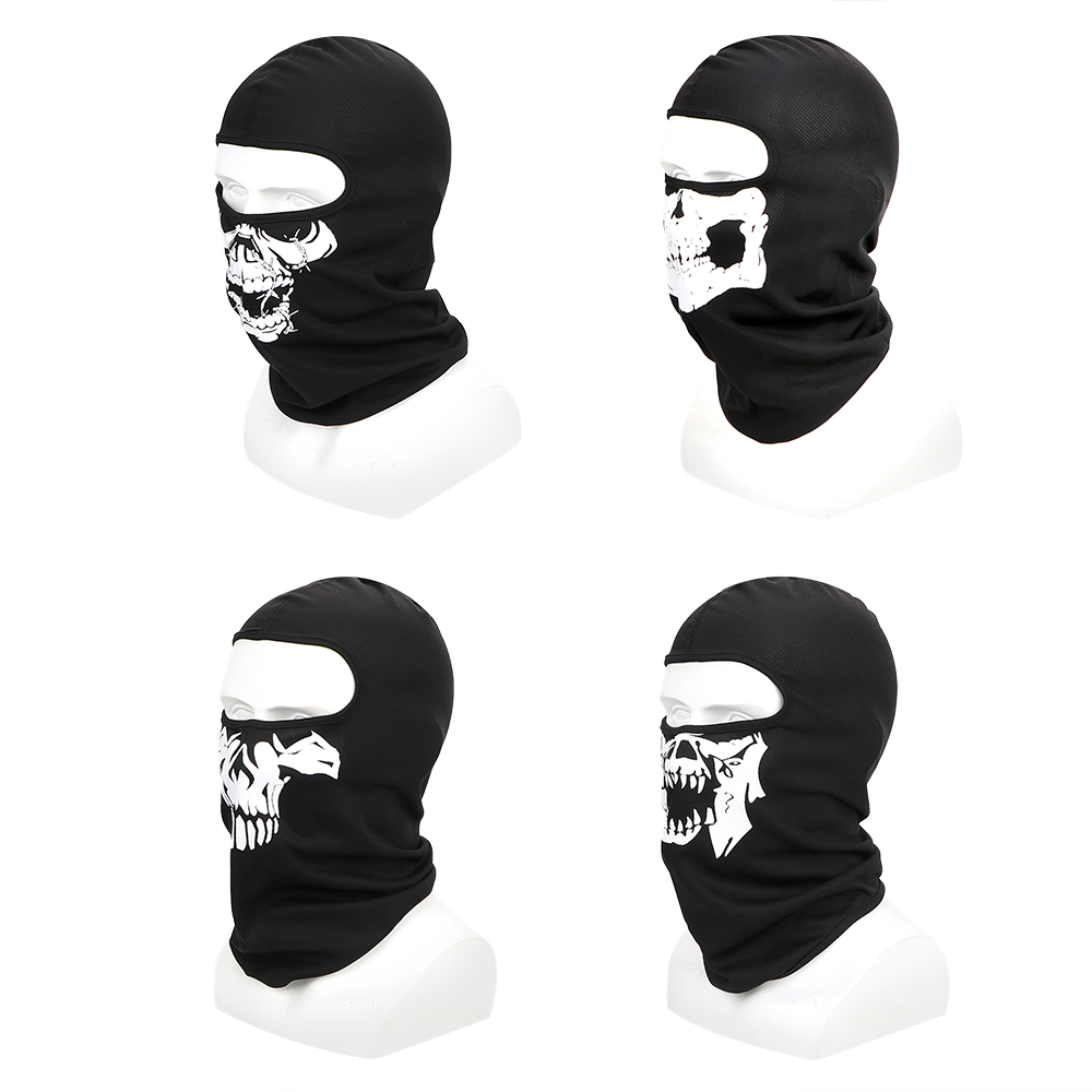 LEEPEE Breathable Full Face Mask Winter Ski Mask Halloween Ghost Skull Motorcycle Bike Mask Outdoor Sports Balaclava