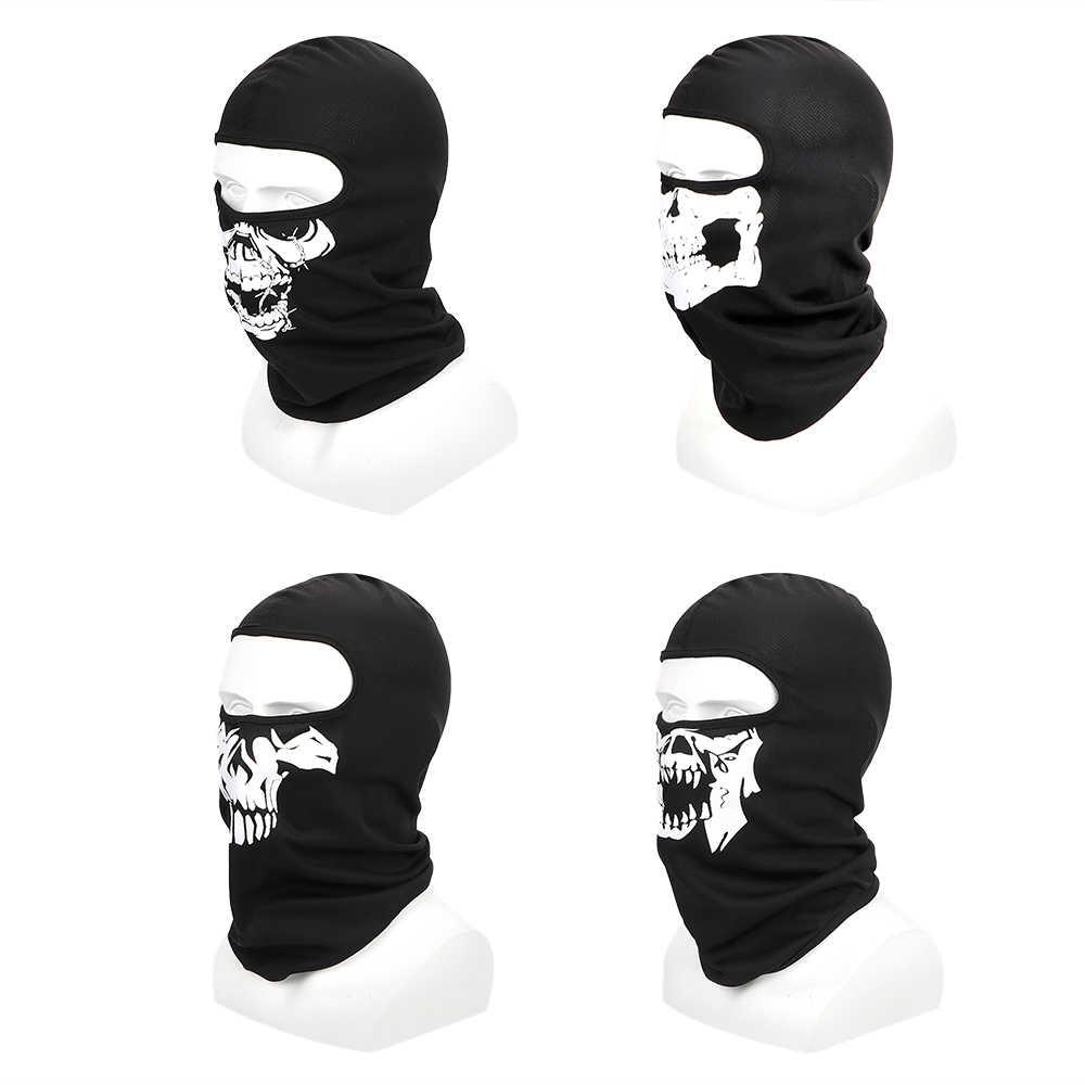 LEEPEE Respirável Rosto Cheio Inverno Máscara de Esqui Máscara de Halloween Crânio Do Fantasma Balaclava Motocicleta Bicicleta Máscara À Prova de Vento Esportes Ao Ar Livre