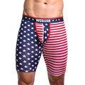 2016 Nuevos hombres Cortos Bañadores EE. UU. Bandera Americana Protagoniza Las Rayas Casual Medias Pantalones Boxeador Ropa Interior Del Hombre